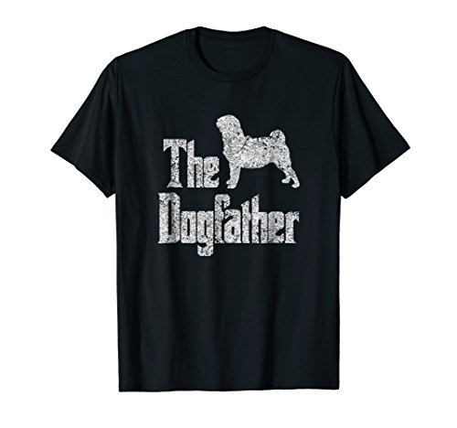 The Dogfather t-shirt, Pug silhouette, funny dog breed gift Breed Black Pug T-shirt