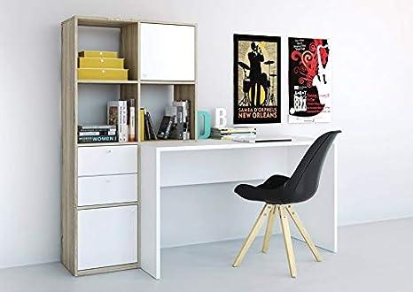 Scrivania E Libreria.Esidra Scrivania Con Libreria 170x60x151cm