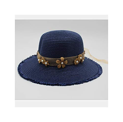 Letter Lace Webbing Cap Big Brim Summer Straw Hat Youth Hats Women Shade Sunhat Beach Caps Leisure,3,About56-58Cm
