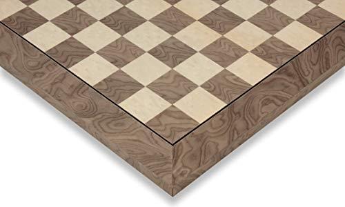 Gray Ash Burl & Erable High Gloss Deluxe Chess Board - 1.75