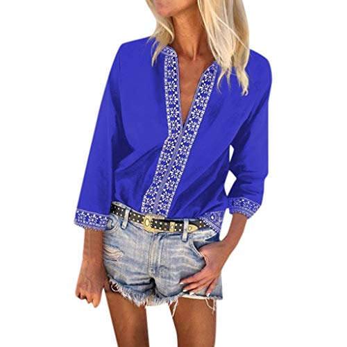 Witspace Women's National Style Off Shoulder Beach Sunscreen Trumpet Sleeves Top Blouse ()