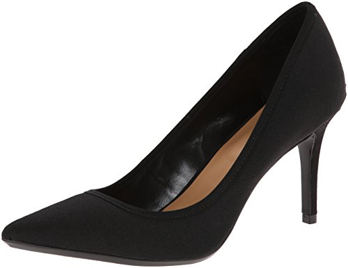 Calvin Klein Womens Gayle Pointed Toe Classic Pumps, Black Stretch, Size 8.5