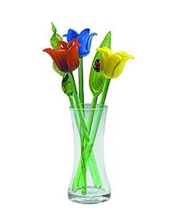 share facebook twitter pinterest - Glass Flowers