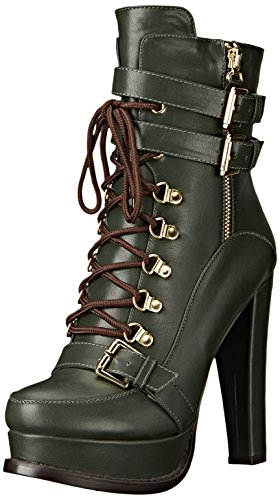Luichiny Women's Storm Chaser Motorcycle Boot, Army, 8 M US