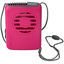 O2COOL FN0200100C012RSP Deluxe Necklace Fan, Raspberry