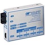 Omnitron FlexPoint T1/E1 Copper to Fiber Media Converter - 1 x RJ-48, 1 x SC - T1/E1 - Rack-mountable