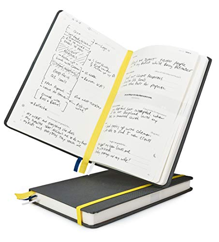 BestSelf Co. The SELF Journal - Daily Planner 2019 - Monthly & Weekly Planner - Increase Productivity and Happiness - Undated Hardcover - Charcoal
