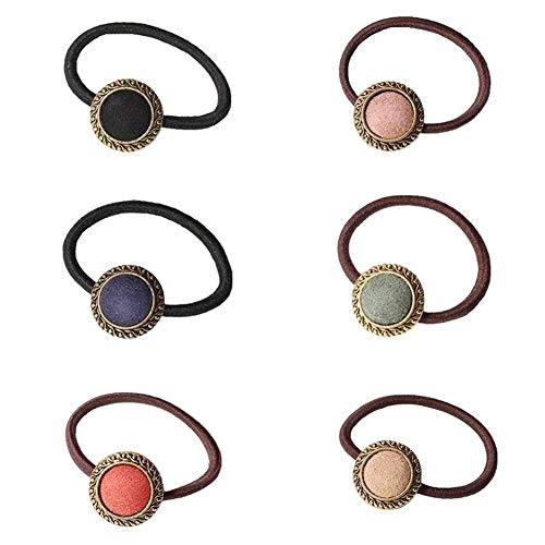 Casualfashion 6Pcs Elastic Hair Ties Rope Ponytail Holder Female Women Girls Hair Accessories