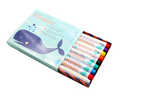Non-Toxic Children's Washable Markers Assorted Colors (9 count)- Dry/Wet Erase Vibrant; great for windows, chalkboards, whiteboards