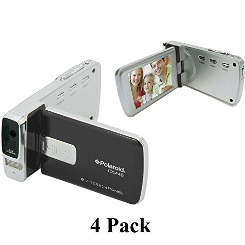 4-Pack Polaroid ID1440-BLK 14MP 4x Zoom HD 1080p Camcorder with 2.7