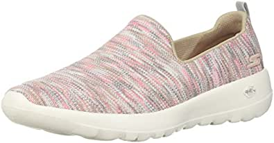 Skechers Women's GO Walk Joy - Terrific Walking Shoe, Taupe/Coral, 5 US