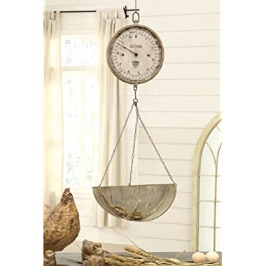 Creative Co-Op Metal and Wood Wall Scale Clock