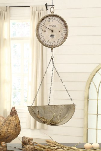 Creative Co Op Metal Scale Clock