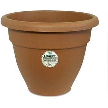 Akro-Mils Caribbean Eco-Resin Pot, 12-Inch, Clay