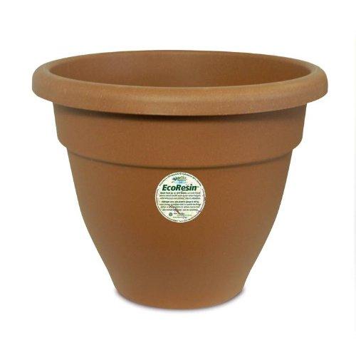 Akro-Mils Caribbean Eco-Resin Pot, 16-Inch, Clay