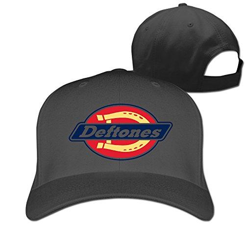 YUVIA Unisex Baseball-caps Peak Cap Deftones Hat Caps Black