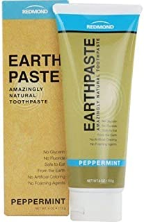 product image for Redmond Earthpaste - Natural Non-Fluoride Toothpaste, 4 Ounce Tube (12 Pack, Peppermint)