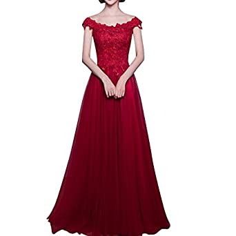 Dora Bridal Womens Off Shoulder Formal Evening Dresses Lace-up A-line Prom Dress