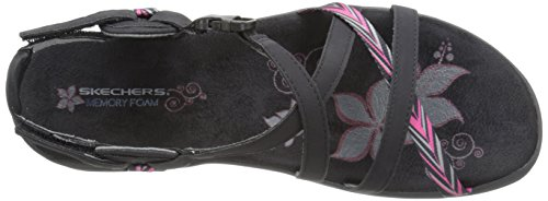 Skechers Regga Slim Keep Fermer Gladiator Sandal Black