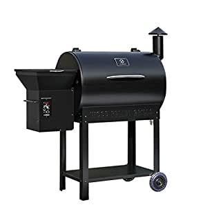 Z Grills ZPG-7002B Wood Pellet Barbecue Grill and Smoker WTH Digital Temperature Control, Perfect Size Family Backyard Outdoor BBQ Grill