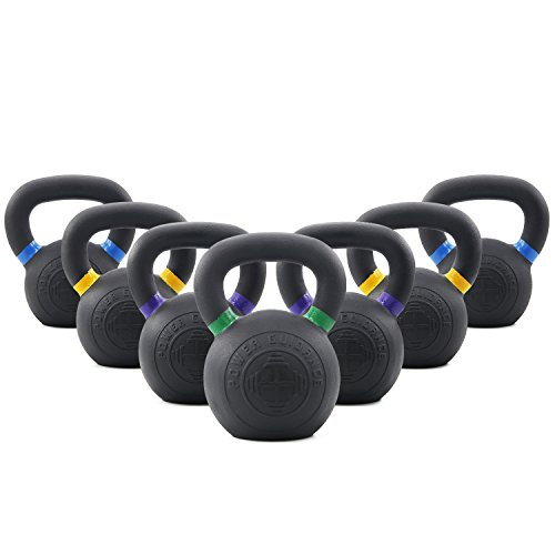 POWER GUIDANCE Cast Iron Competition Weight Kettlebell LB and KG Markings Weight Available: 9, 13, 18, 26, 35, 44, 53 lbs