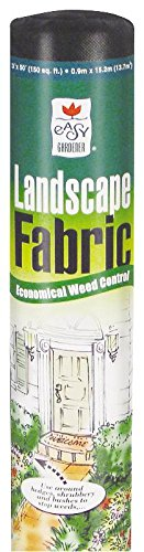 Easy Gardener WovenPlus Weed Barrier (Contractor-Grade Weed Control Landscape Fabric) 3 feet x 50 feet