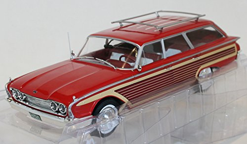 Country Squire Ltd Ford (MODELCARGROUP MCG18074 FORD COUNTRY SQUIRE 1960 WOODEN/RED 1:18 DIE CAST MODEL)