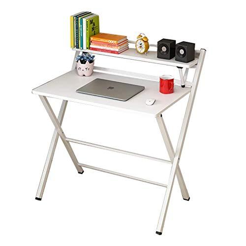 XYSoeMY Escritorio para computadora, Mesa Plegable Simple de Escritorio Doble, Escritorio para Estudiantes en el hogar…