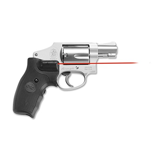 Rubber Trace Crimson (Crimson Trace Lasergrip Smith Wesson J-Frame Round Butt, Black, Rubber Overmold Grip Front Activation)