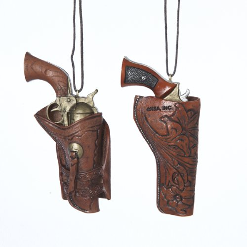WESTERN HOLSTER WITH GUN ORNAMENT