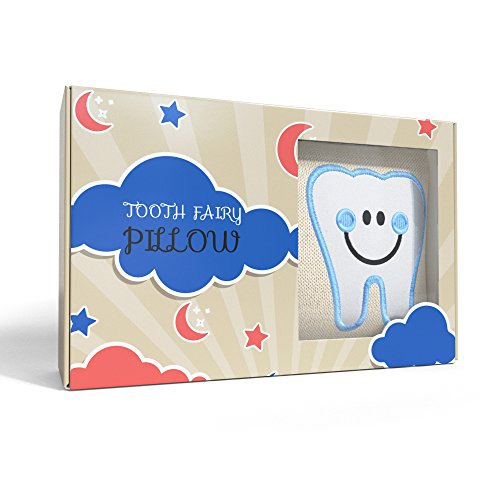CHERISHED KID Tooth Fairy Pillow Kit for Boys with Pouch and Letter Note – Keepsake Box Makes it a Great Gift Idea for Kids by E-Com Highway (Image #3)