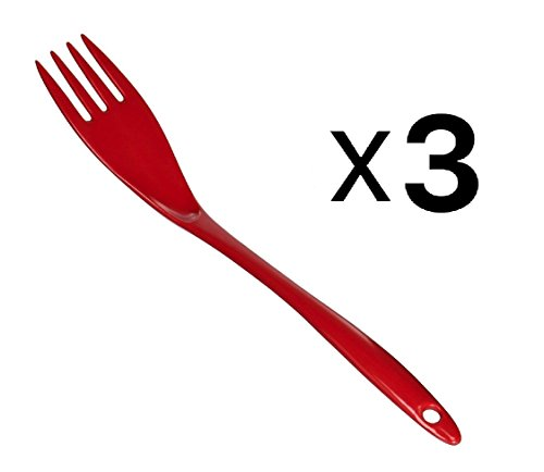 Norpro 9105R 12-Inch Melamine Fork, Red, Set of 3 (Norpro 12 Inch)