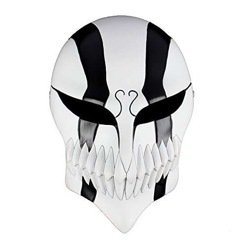 WeSurprise Resin Full Hollow Mask Bleach Ichigo Kurosaki Comics Cosplay Mask For Halloween Gift(Black) (Ichigo Kurosaki Halloween Costume)
