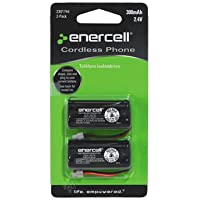 Enercell 2.4V 300mAh NI-MH Cordless Phone Battery - 2-pack Batteries