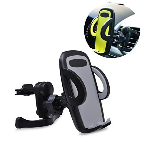 Villexun Universal Smartphones Car Air Vent Mount Holder Cradle Compatible with iPhone 7 7 Plus SE 6s 6 Plus 6 5s 5 4s 4 Samsung Galaxy S6 S5 S4 LG Nexus Sony Nokia and More (Black)