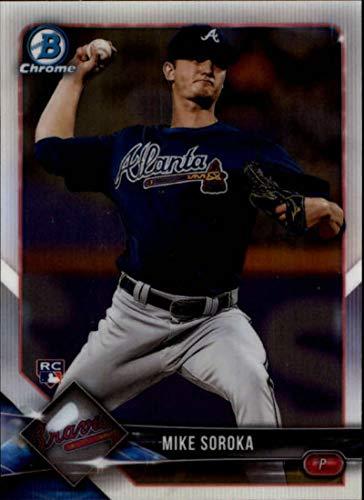 2018 Bowman Chrome Baseball #64 Mike Soroka RC Rookie Atlanta Braves Official MLB Trading Card