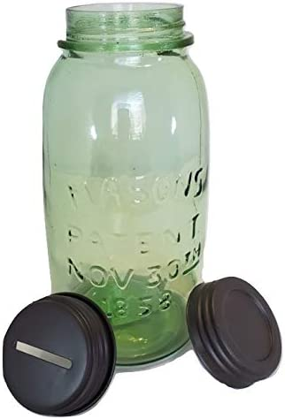 Amazon Com Ctw Decorative Mason Jars Green Glass Jar With