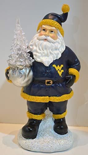 (Oxbay West Virginia Mountaineers Santa with LED Christmas Tree)