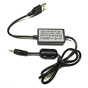 SODIAL Cargador de Cable USB para Yaesu Radio vx-1r vx-2r vx ...
