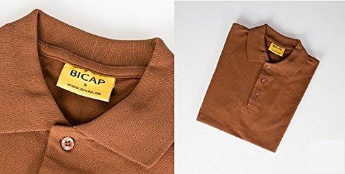 Poloshirt Workwear - BICAP - Größe XL, braun / hellbraun - kurzarm - 100 % Baumwolle - Gastrobekleidung - waschbar bei 40 ° C