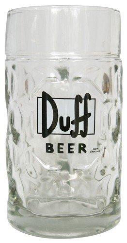 Simpsons Duff Beer Bierglas 1 Liter Maßkrug 1000ml Bierkrug Wiesn Bier Glas