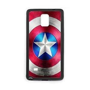 Captain America Design Unique Customized Hard Case Cover for Samsung Galaxy Note 4, Captain America Galaxy Note 4 Cover Case