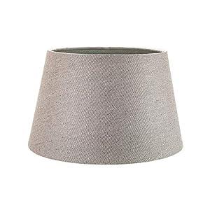 Classique 10 pouces gris lin tissu tambour table/pendentif abat-jour 60W maximum par Happy Homewares