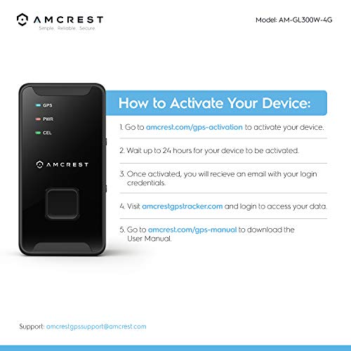 Amcrest 4G LTE GPS Tracker - Portable Mini Hidden Real-Time GPS Tracking  Device for Vehicles, Cars, Kids, Persons, Assets w/Geo-Fencing,