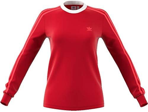 adidas 3 Stripes Shirt pour Femme Rouge ED7498: