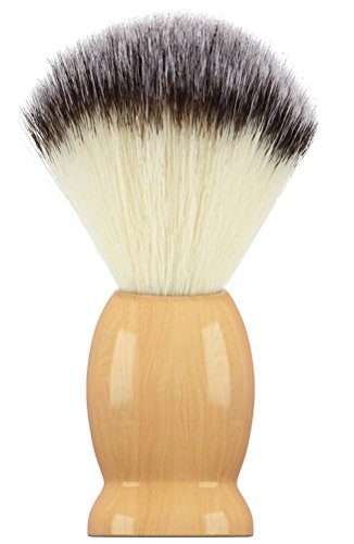 (Bassion Hand Crafted 100% Pure Badger Shaving Brush with Hard Wood Handle, Men's Luxury Professional Hair Salon Tool, Engineered to Deliver the Best Shave of Your)