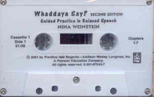 Whaddaya Say? Audiocassettes (3)