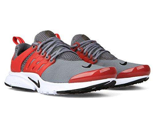 Nike Presto Gs Ragazzi Giovanili Scarpe Da Corsa Cool Grigio / Università Rosso-nero-bianco