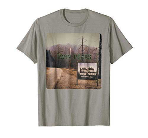 Twin Peaks City Limits Welcome Sign Vintage Graphic T-Shirt (Twin Peaks Fabric)