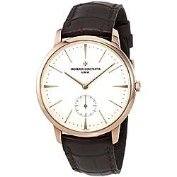 Vacheron Constantin Silver Dial 18 Carat Rose Gold Mens Watch 1110U/000R-B085